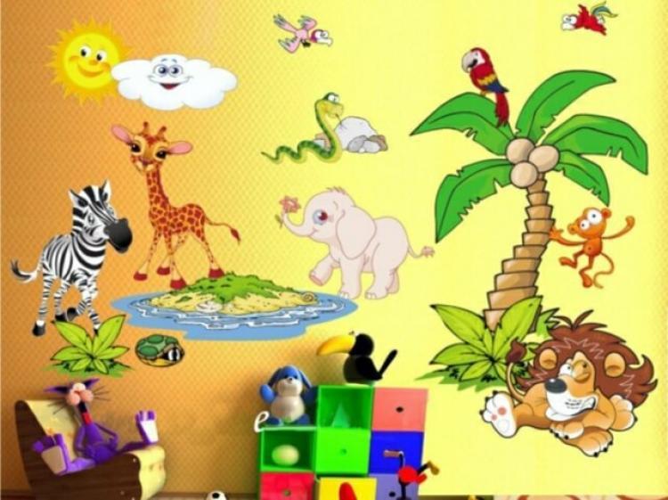 детската стая със забавни стикери